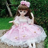 女の子のための2020年の人形姫BJD人形1/3 SD人形24インチ18球体関節人形DIYのおもちゃ服と衣装シューズウィッグ髪のメイクアップベストギフト,C