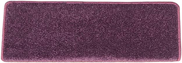JIAJUAN Stair Carpet Treads Non-Slip Purple Rubber Durable Rugs Ottomans Indoor, 12mm, 2 Styles, 2 Sizes, Customize (Color...