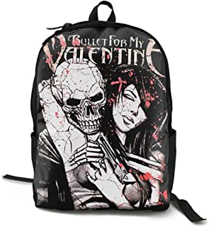 Bullet For My Valentine Backpack Unisex Campus School Bag Casual Backpack Gym Travel Hiking Canvas Backpack