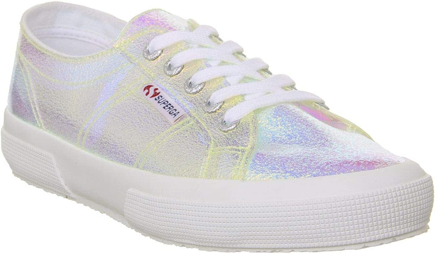 Superga Women's 2750-Crack Iridescent Lace Up Trainer Multi