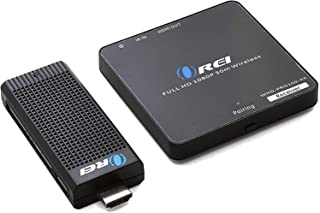 Wireless HDMI Transmitter & Receiver, by OREI - Extender Full HD 1080p Wirelessly Upto 100 Ft with Dongle - Perfect for St...