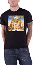 Iron Maiden T Shirt Powerslave Album Cover Box Band Logo Official Mens Black