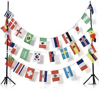 AZ FLAG Guirnalda 13 Metros 32 Banderas de la Copa Mundial DE FÚTBOL DE 2018 Rusia 30x20cm - Bandera Copa del Mundo DE Football 20 x 30 cm - banderines