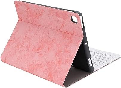 Tangxi Tablet-Tastatur Ledertasche mit Bluetooth 3 0-Tastatur f r IOS 10M-Daten bertragung  Tastatur-Split-Schutzh lle mit Tablet-Tastaturhalterung Stifthalterung Rosa