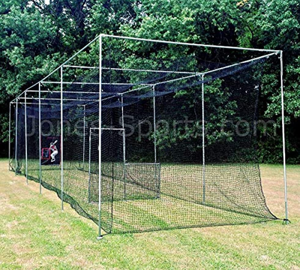 Jones Sports 10' X 12' X ? 60PLY Heavy Duty #42 HDPE Batting CAGE with Frame KIT for Baseball, Softball, Backyard Sports