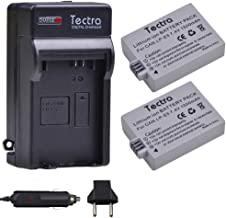 Tectra 2-Pack LP-E5 Battery and Charger Kits for Canon Compatible with Canon EOS Rebel XS, Rebel T1i, Rebel XSi, 1000D, 500D, 450D, Kiss X3, Kiss X2, Kiss F Digital Cameras