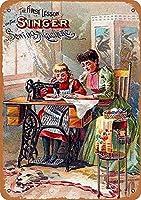 歌手の縫製機壁錫サイン金属ポスターレトロプラーク警告サインヴィンテージ鉄の絵画の装飾オフィスの寝室のリビングルームクラブのための面白い吊り工芸品
