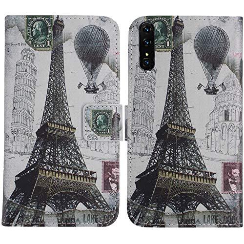 TienJueShi Eiffelturm Flip Stand Brief Leder Tasche Schütz Hülle Handy Case Für XGODY Mate X 6 inch Abdeckung Fall Wallet Cover Etüi