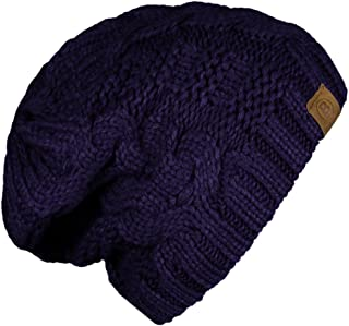 BASICO Unisex Warm Chunky Soft Stretch Cable Knit Beanie Cap Hat