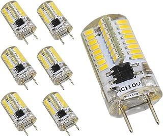Reelco 6-Pack Shorter<1.37in G8 LED Light Bulb 3Watt Dimmable Warm white 3000K 120V Under-counter Lights Kitchen Light Microwave ovens Lights Equivalent 25W Halogen Bulb