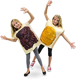 Peanut Butter & Jelly Childrens Halloween Dress Up Party Cosplay Costumes 2-Pack (Youth Small (3-4)) Brown