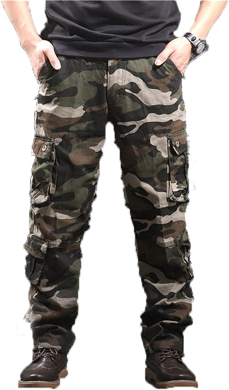 Men's Casual Cargo Pants Military Army Camo Combat Work Pants Casual Work Cargo Pants for Men with Pockets