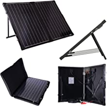 Renogy 100 Watt 12 Volt Monocrystalline Off Grid Portable Foldable 2Pcs 50W Solar Panel Suitcase Built-in Kickstand with 30A Charger Controller, Not Avaliable