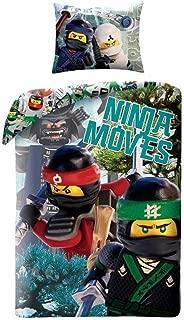 LEGO Ninjago Bedding LEG570BL Children's Bed Linen 140x200 cm + 70x90 cm
