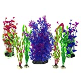 Piante Artificiali Acquario Ornamenti kit, PietyPet Grande Pianta Artificiale Accessori pe...