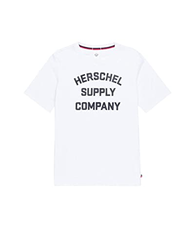Herschel Supply Co. Tee (Stacked Chest Logo Bright White/Black) Men
