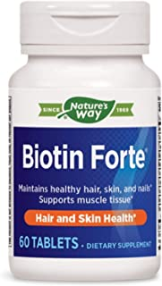 Enzymatic Therapy - Biotin Forte Extra Strength 5 Mg. 60 Tablets 137284