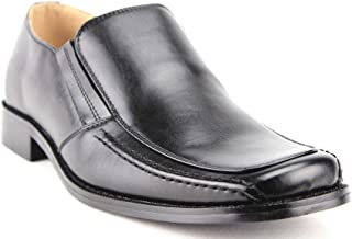 Majestic Men's 35162 Leather Lined Classic Slip On Squared Toe Loafers Dress Shoes