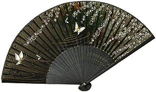 HQQ Floral Plegable Ventilador de la Mano, Ventilador de Mano de Seda Retro, Bailar Boda de la Iglesia Partido Ilustraciones