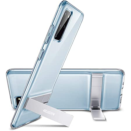 ESR Metal Kickstand Case Compatible with Samsung Galaxy S20 Plus (6.7-Inch) [Vertical and Horizontal Stand] [Reinforced Drop Protection] [Flexible TPU Case] – Clear
