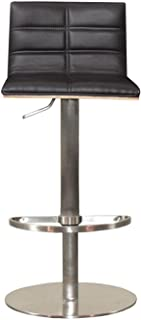 RMG Fine Imports Sydney Adjustable Height Swivel Bar Stool in Black