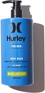 Hurley Men's Body Wash - Cleansing and Hydrating Shower Soap, Size 16oz, Cedar and Citron