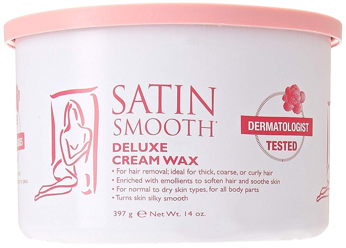 生産的移植ポケットSatin Smooth Deluxe Cream Wax, 14 Ounce