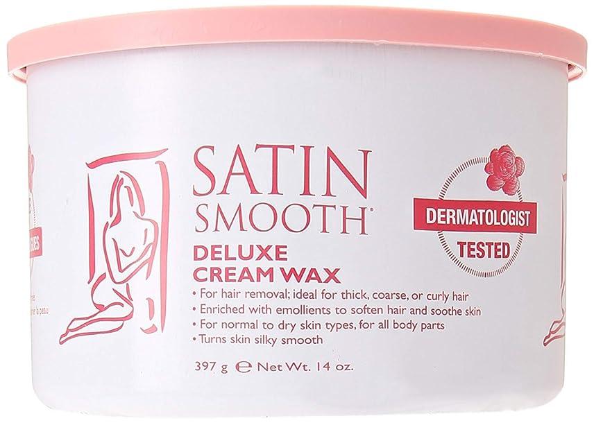 熟読血統ブースSatin Smooth Deluxe Cream Wax, 14 Ounce