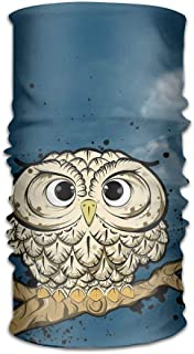 Mcdorty Headwear Owl Bird Headband Sweatband Face Mask Scarf Bandana Neck Gaiter Wrap Liner Outdoor19
