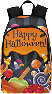Halloween Sweets Colorful Party Lollipop Casual Daypack Travel Bag College School Backpack for Mens and Women