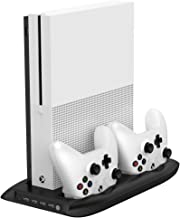 Puroma Vertical Stand Cooling Fan with Dual Controller Charging Station and 4 Ports USB Hub for Microsoft Xbox One S