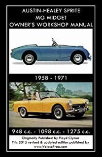 AUSTIN-HEALEY SPRITE MG MIDGET OWNER'S WORKSHOP MANUAL 1958-1971  948 cc - 1098 cc - 1275 cc