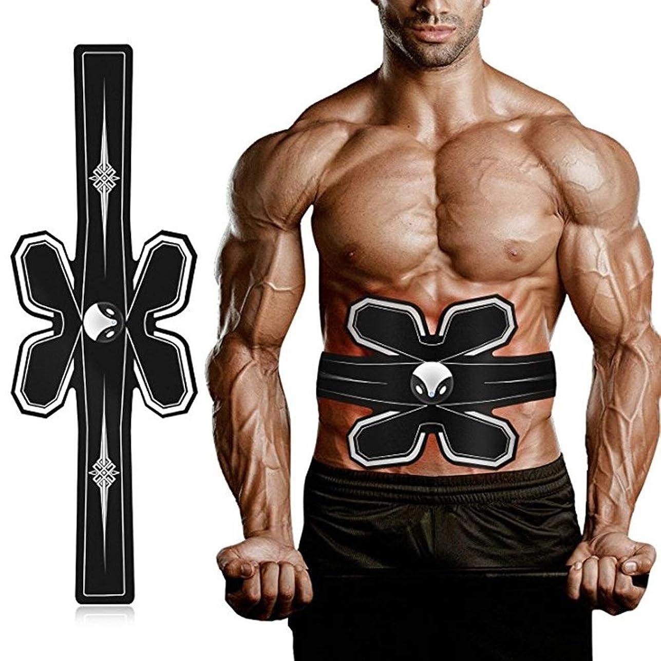 慎重にプレビュー偽造EMS筋肉フィットネストレーナー、筋肉腹部刺激スティルティルトナーベルト体格トレーニングと脂肪燃焼フィットネス脚運動USB充電式ゲルパッドホーム男性と女性に適した