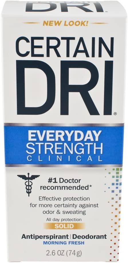 CERTAIN New sales DRI Everyday New product type Strength Deodorant Antiperspirant Clinical