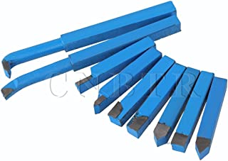 CNBTR 10mm YT15 Alloy Carbide-Tipped Insert Lathe Turning Tool Cutting Tools Bit Set Pack of 9