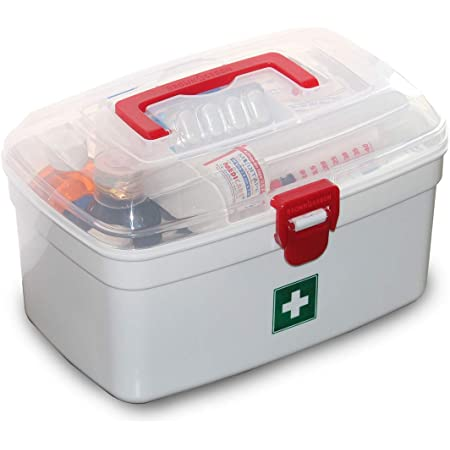 UTILITY CRAFTS INC. Multi Purpose Regular Medicine Box with Handle (White, 236 x 160 x 139 mm)