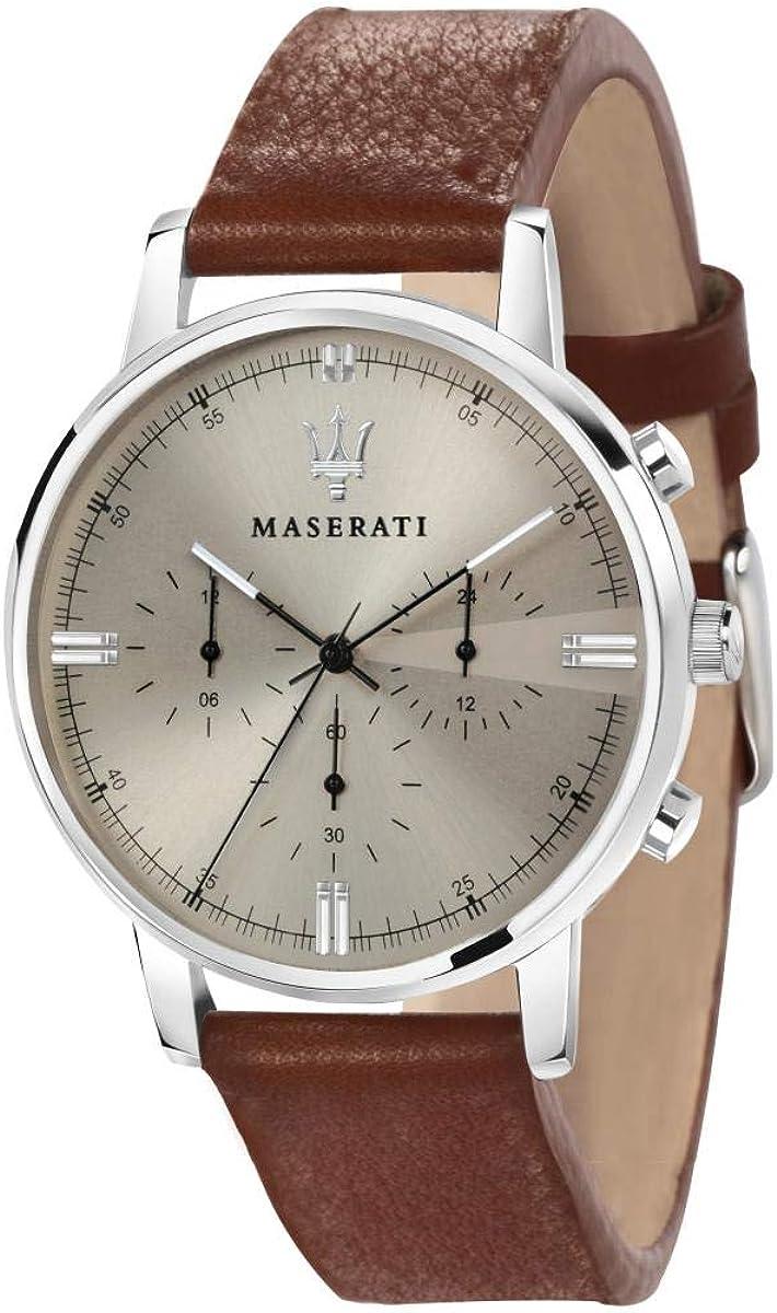 Reloj para Hombre, Colección ELEGANZA MASERATI, en Acero, Cuero - R8871630001