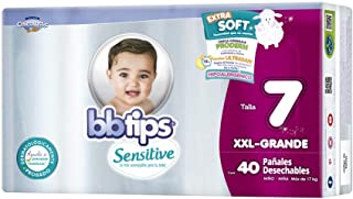 BBtips Sensitive Pañales, Talla XXL Grande/7, 160 Pañales