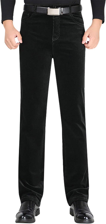 JiaYou New York Mall Men Causal Free Shipping New Fit Regular Corduroy Elastic Wa Mid Flat-Front