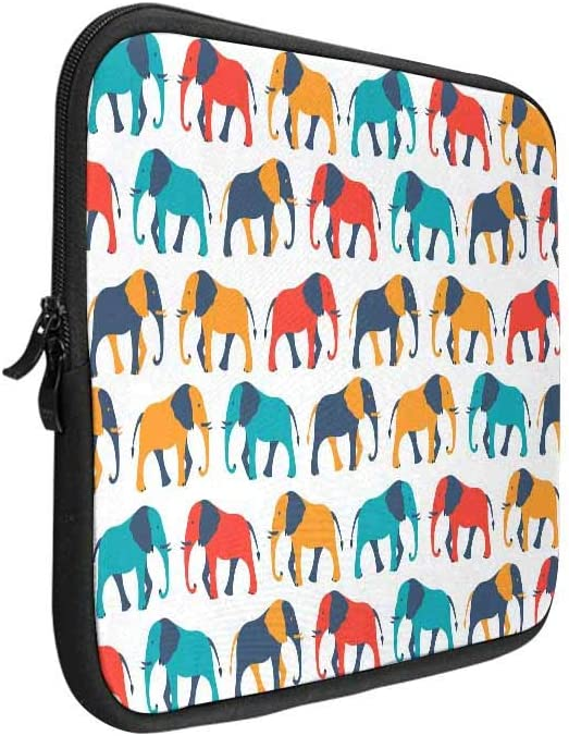 INTERESTPRINT Laptop Protective Carrying Bag Animal Paw Print Dog Bone Cute Notebook Sleeve Pouch Case Bag 11 Inch 11.6 Inch