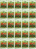 Set of 25 Red Corn Poppy Flower Seed Packets! Flower Seeds in Bulk - Great for Creating The Garden of Your Dreams! (25, Poppy - Red Corn)