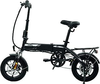 AiDDE 電動アシスト自転車 折りたたみ 14インチ 走行距離80km 公道走行可能 サスペンション LCDディスプレイ シティサイクル USB充電ポート キャリア付き 自転車 小型 軽量 通勤 通学 アウトドア キャンプ 街乗り