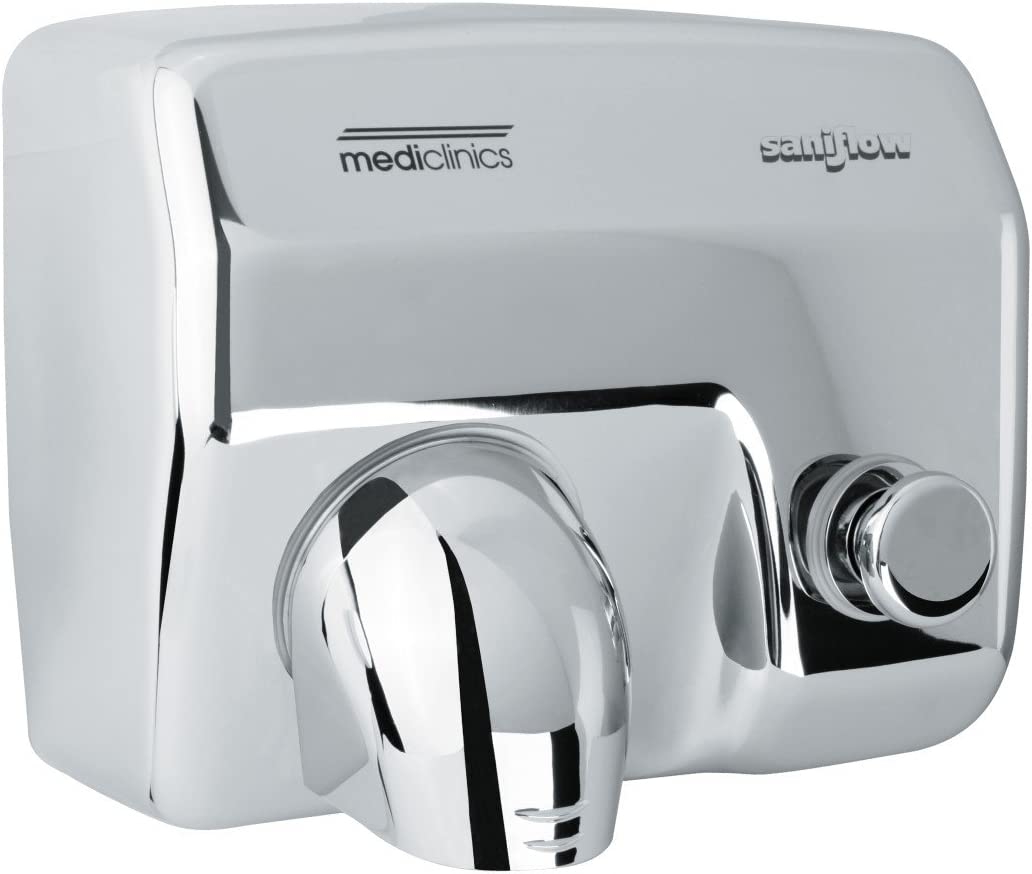 Saniflow E88C Push Button Operated Hand Dryer, Steel One-piece C