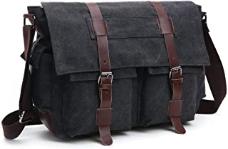 Vintage Canvas Messenger Bag Shoulder Bags for Men Women