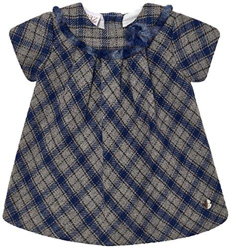 PAZ Rodriguez 004-95097 Vestido, Azul (Indigo), Recién Nacido (Tamaño del Fabricante:3M) para Bebés