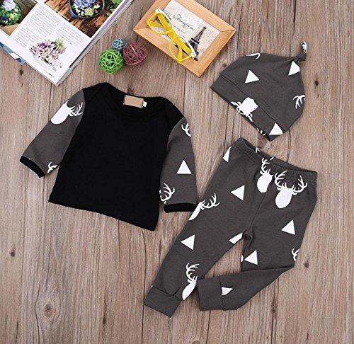 Happy little sheep Ensemble de sous-vêtements Confortables en Coton pour Nouveau-né avec t-Shirt, Leggings et Chapeau