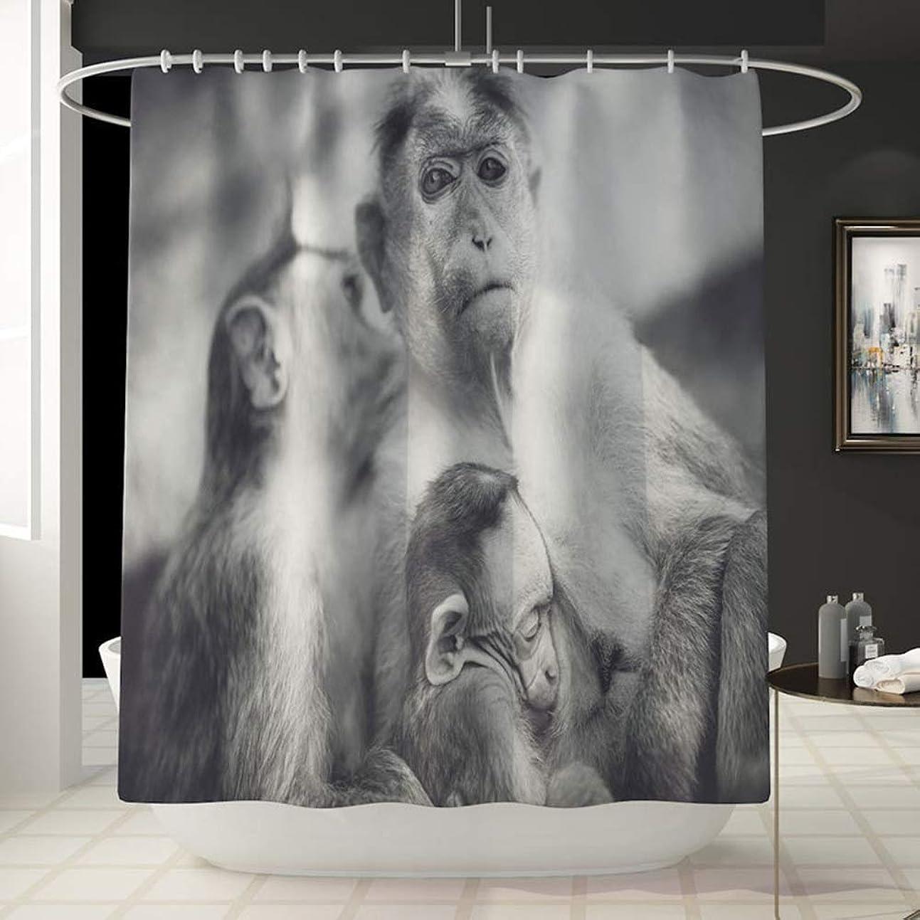 宝思春期の捧げるモンキーパターン楽しいシャワーカーテン風呂アカウントバスルーム防水快適なカーテンは色褪せないで汎用性の高いバスタブシャワーカーテン180センチ* 180センチ洗濯機 フェンコー