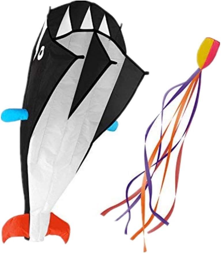 IMAGE mart 3D Regular dealer Kite Large Black Dolphin F Beach with Huge Breeze Kites