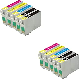 Bramacartuchos - 10 X Cartuchos compatibles NON OEM para Epson T1281-1284 BX305F, BX305 F, BX305FW, BX306 FW +, Epson Stylus S22, SX125, SX130, SX235W, SX420W, SX425W, SX435W, SX438, SX440w, SX445W,