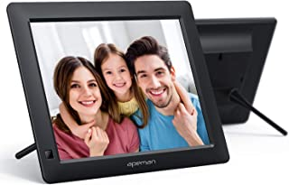 APEMAN Digital Picture Frame 8 Inch with 1280x800 High Resolution, Digital Photo Frame Support 1080P Video, Background Mus...